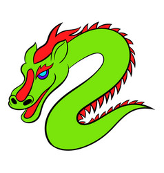Green chinese dragon icon cartoon vector