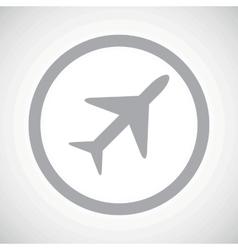 Grey plane sign icon vector image