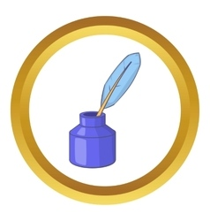 Ink with pen icon vector