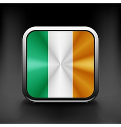 Ireland icon flag national travel icon country vector image
