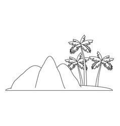 isolated island landscape vector image vector image