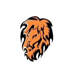 lion head Company logo design vector image vector image