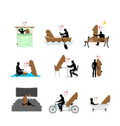 lover skateboarding set man and skateboard in vector image vector image