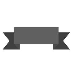 Monochrome silhouette of label border rectangular vector