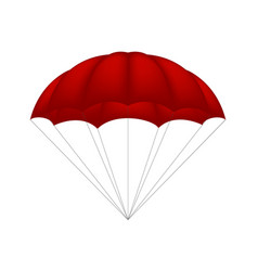 parachute in red design vector image