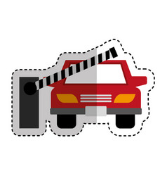parking zone entrance barricade vector image