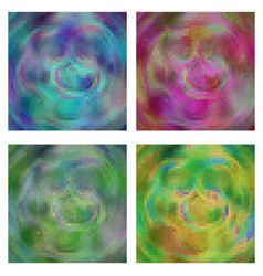 pixel background abstract in four different color vector image vector image