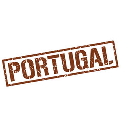 Portugal brown square stamp vector