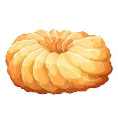 Round doughnut on white vector image