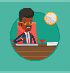 signing of business documents vector image