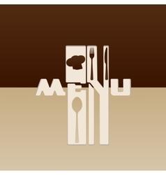 Stencil restaurant menu vector image vector image