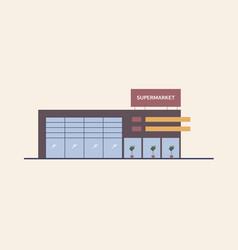 supermarket shopping mall or big box store built vector image vector image