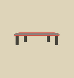 Vintage locker room bench vector