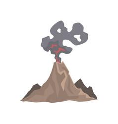 Volcano eruption awakening dangerous vulcan vector