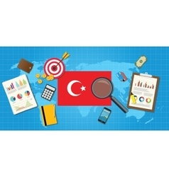 Turkey europe economy economic condition country vector