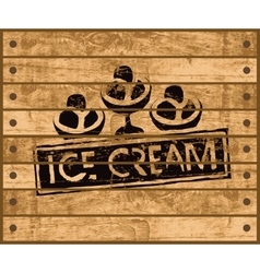 Sign with ice cream vector
