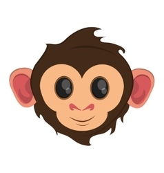 Isolated monkey cartoon face design vector
