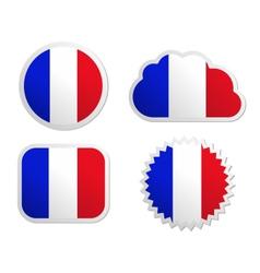France flag labels vector image