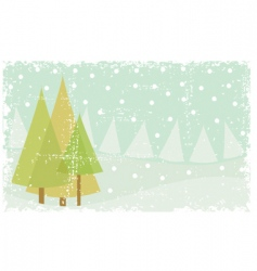 Grunge winter card vector