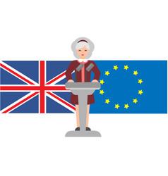 Brexit in united kingdom vector