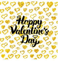 Happy valentines day handwritten card vector