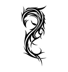 Abstract tribal tattoo design template vector