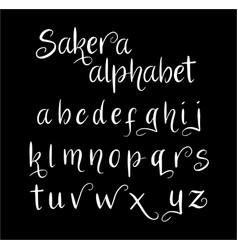 Sakera alphabet typography vector