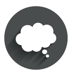Comic speech bubble sign icon chat think symbol vector