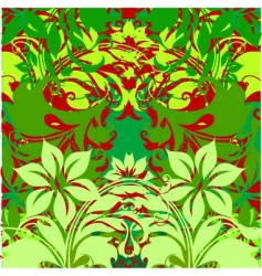 Flowers on green background vector