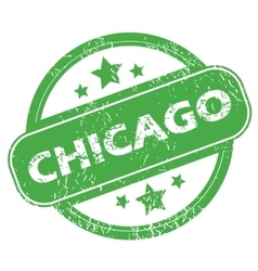 Chicago green stamp vector