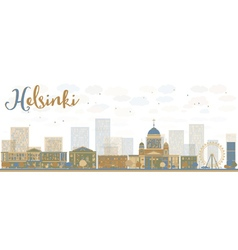 Abstract helsinki skyline vector