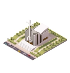 isometric modern church vector image