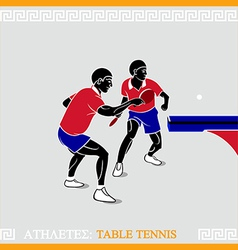 Athlete table tennis vector image