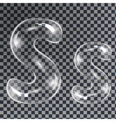 Bubbles letters s vector