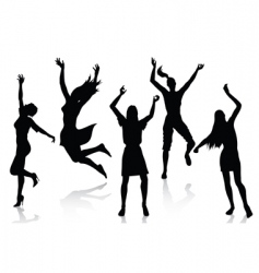 active women silhouettes vector image vector image