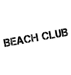 Beach club rubber stamp vector