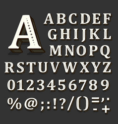 black and white font on black background the vector image
