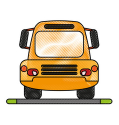 Bus flat scribble vector