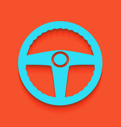 Car driver sign whitish icon on brick vector