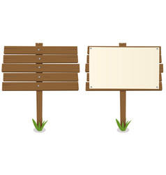 cartoon wood board vector image