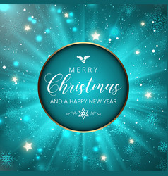 christmas and new year snowflakes background vector image vector image