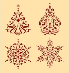 Christmas ornaments vector image vector image