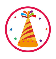 Color background with party hat vector