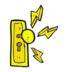 Comic cartoon door knob vector