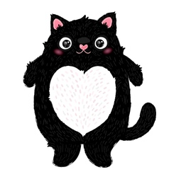 Cute fat cat character vector
