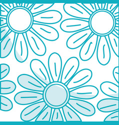 Cute sunflower isolated pattern vector
