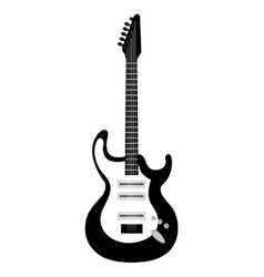 Electric guitar icon in black and white colors vector image vector image