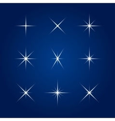 Element - flash highlight star vector