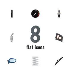 Flat component set of tachometr auto component vector