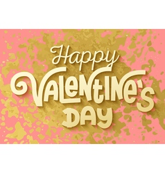 Gold leaf boho chic style happy valentines day vector